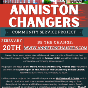 Anniston Changers Flyer | McKleroy & Moore