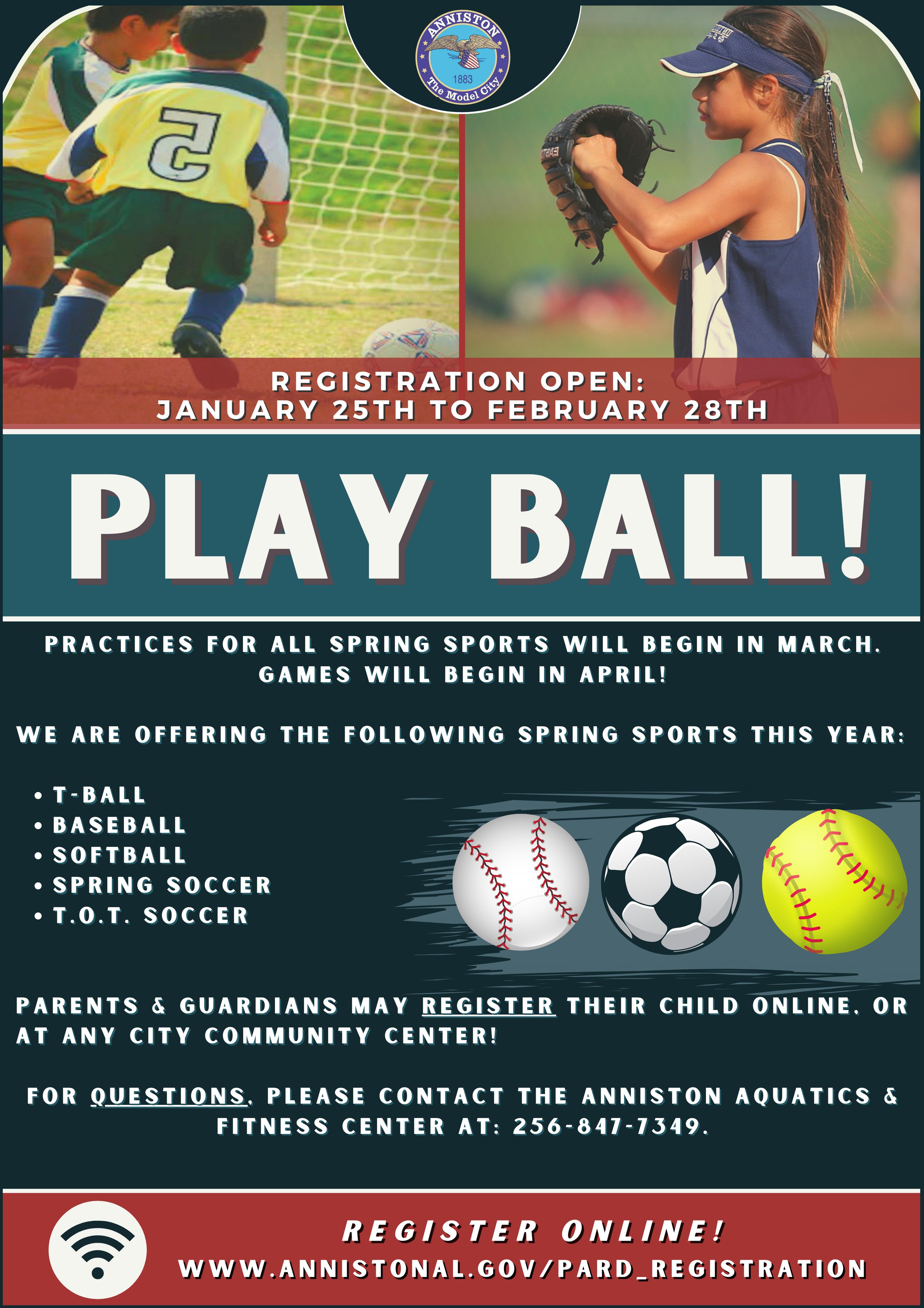 PARD Spring Sports Flyer | Anniston