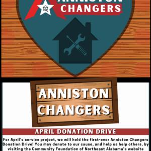 Anniston Changers | April Donation Drive