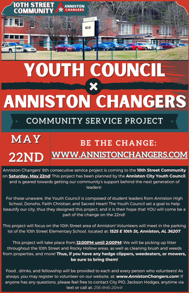 Youth Council + Anniston Changers Flyer 10th St 52221