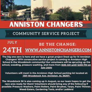 Anniston Changers Flyer AHS and Woodstock-2