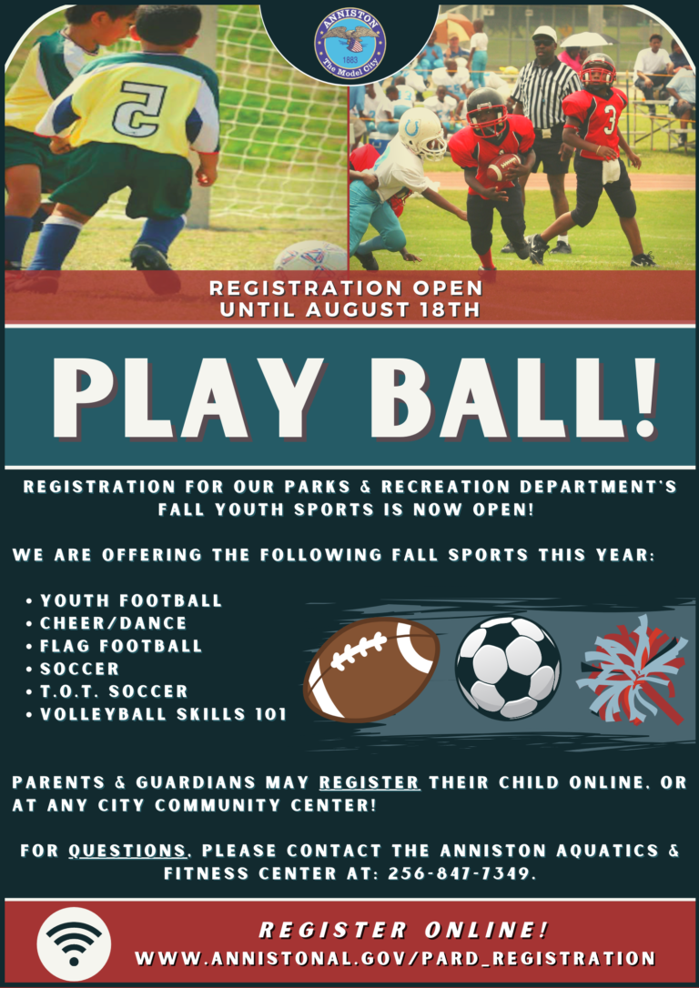 Fall Sports Flyer Anniston