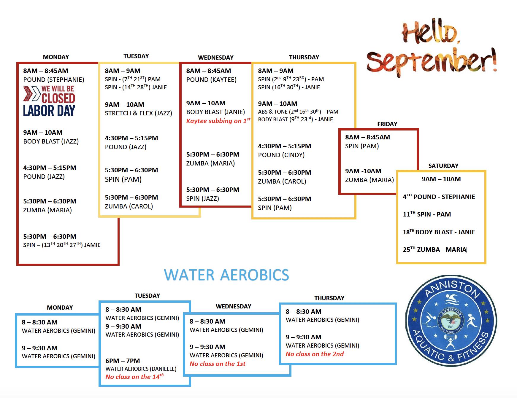 aquatic center_Sept 2021 events